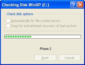 Check Disk WinXP