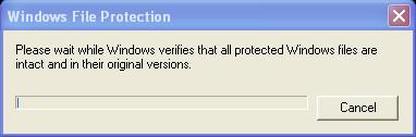 System file checker - progress bar